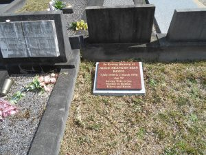 One of our headstones in Wollongong